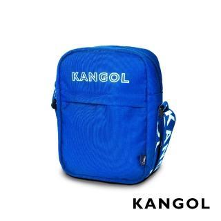 【KANGOL】LIBERTY系列 韓版潮流LOGO背帶小型側背包(藍 KG1194)