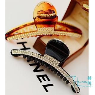 【HERA 赫拉】韓版精緻大方鑲鑽抓夾/髮夾-2色(滿鑽 水鑽 精緻 閃亮 抓夾)