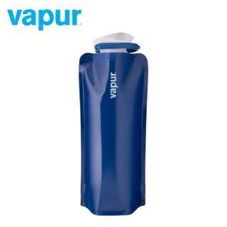 【美國 Vapur】Solids 運動摺疊水袋 0.7L 上將藍 #30038(運動水壺 摺疊水壺)