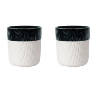 【TOAST】MU mini 咖啡杯組 80ml_午夜 –二入