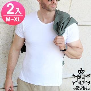 【麥瑟保羅 MERCER SPO-LO】歐式休閒涼感柔暖短袖(黑白M-XL-2件)
