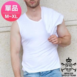 【麥瑟保羅 MERCER SPO-LO】歐式休閒涼感柔暖寬肩背心(黑白M-XL-單件)