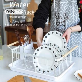 【KCS嚴選】無印風手提式餐具碗盤瀝水收納架(1入)