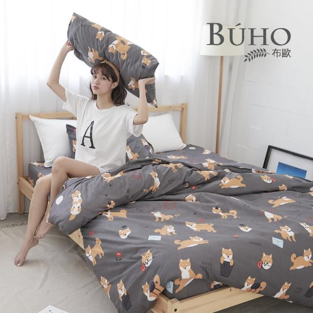【BUHO】雙人四件式薄被套床包組(汪星柴君)/