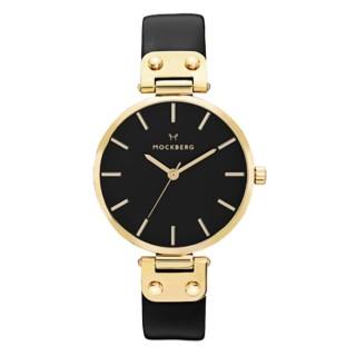【MOCKBERG】女王氣息時尚腕錶-黑X金(MO113)