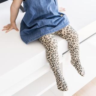 【公主童襪】超細纖維拿鐵咖啡色豹紋兒童褲襪(0-12歲)