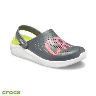 【Crocs】中性鞋 LiteRide瘋狂LOGO克駱格(205893-04O)
