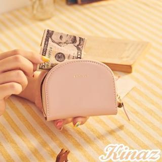 【KINAZ】驚喜圓滑貼心分層零錢包-粉嫩紅魔法 -小物魔法系列