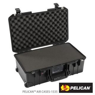 【PELICAN】1535Air 含泡棉輪座拉桿氣密箱(黑)