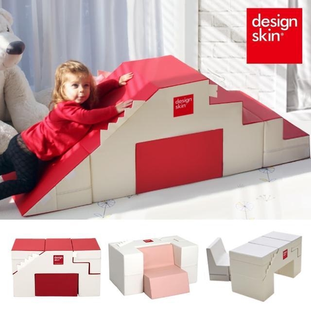 【韓國design skin】兒童溜滑梯變形沙發桌椅(灰色-感官統合訓練 收納 書桌 餐桌 畫畫 幼兒 寶寶)