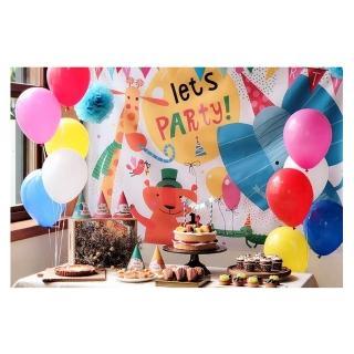 【PartyPack派對懶人包】歡樂動物生日派對懶人包5件組(生日/週歲派對佈置)