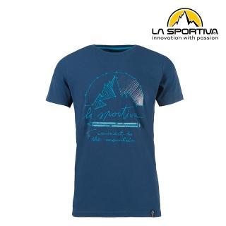 【LA SPORTIVA】Connect T-Shirt 透氣短袖上衣 男款 藍色 #N03618618