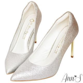 【Ann'S】高雅華麗-漸層色調電鍍鞋跟尖頭高跟鞋(金)