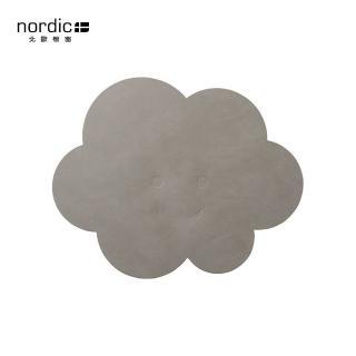 【北歐櫥窗】LIND DNA NUPO 兒童皮革餐墊(灰雲)