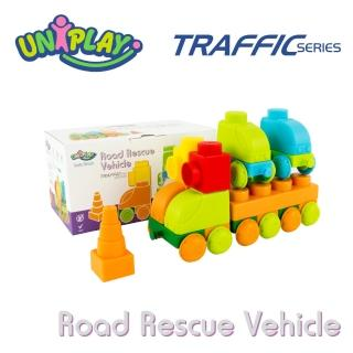 【UNIPLAY抗菌軟積木】交通系列 道路救援車組