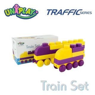 【UNIPLAY抗菌軟積木】交通系列 火車組
