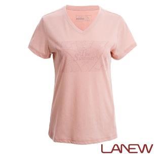 【La new】沁涼印花V領T恤(女50601148)