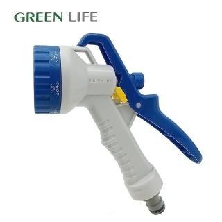 【日本 GREEN LIFE】7段夾式小水槍(澆花、草皮保養、灑水)