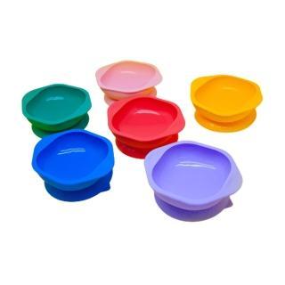 【MARCUS&MARCUS】動物樂園矽膠防漏幼兒學習吸盤碗(寶貝自主用餐碗首推)
