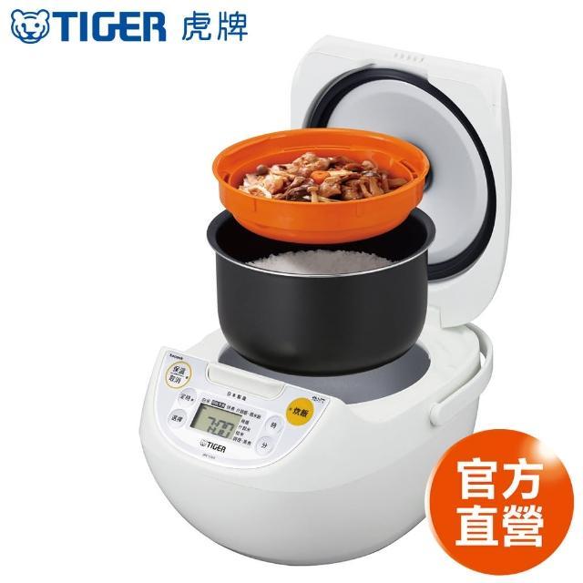 【日本製】TIGER虎牌10人份tacook微電腦電子鍋(JBV-S18R))+長方形玻璃密封保鮮盒800ml(可微波)