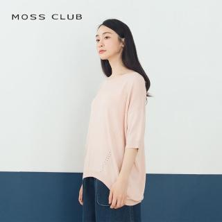 【MOSS CLUB】透氣舒適素面-針織衫(三色)