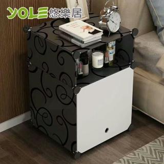 【YOLE 悠樂居】隨心DIY百變組合角落置物櫃-1列2層#1327066(A-5)