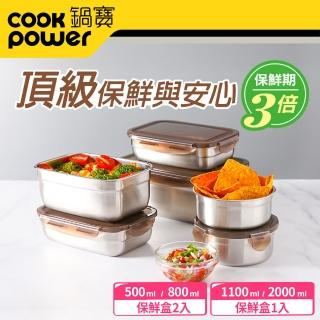 【CookPower 鍋寶】316不鏽鋼保鮮盒強打6入組(EO-BVS20110801Z205Z2)
