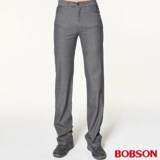 【BOBSON】男款人字斜紋伸縮直筒褲(1740-85)