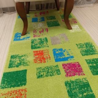 【山德力】ESPRIT系列-機織地毯-心隅綠野 80x150cm(床邊毯  走道毯 廚房毯 現代風格 普普風 格子 生活美學)