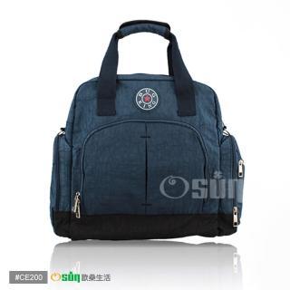 【Osun】新款無毒超容量後背側背斜背手提四用媽咪包、媽媽包(素色款 CE200)