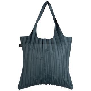 【LOQI】百褶包系列 - 炭灰 PLCH(購物袋.環保袋.百褶包.春捲包)
