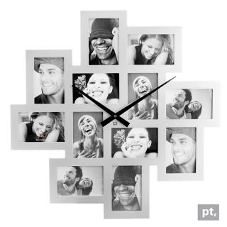【歐洲名牌時鐘】Present Time-螺旋相框時鐘《歐型精品館》(簡約時尚造型/掛鐘/壁鐘)
