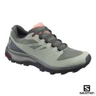 【salomon】低筒登山鞋 GORETEX 防水 女 OUTline(影黑/都會灰/珊瑚粉)