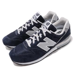 【NEW BALANCE】休閒鞋 CM996BND 低筒 穿搭 男女鞋 紐巴倫 情侶鞋 經典款 簡約質感 麂皮 藍 銀(CM996BND)