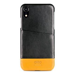 【alto 奧沰】iPhone XR 6.1吋皮革保護殼 Metro - 渡鴉黑/ 焦糖棕(iPhone 保護殼)