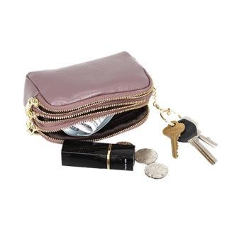 【玩皮工坊】真皮頭層牛皮3拉鍊便捷女士零錢包硬幣包收納包女夾LH633(6色可選)