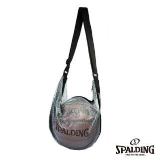 【SPALDING】斯伯丁 籃球 單顆裝網袋(銀藍)