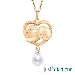 【Just Diamond】玫瑰金鑽石Sweet Together系列 吊墜-Little Twin Stars