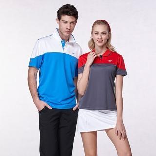 【Londa Polo】細眼吸濕排汗男版短POLO衫(P68896白/青藍色)
