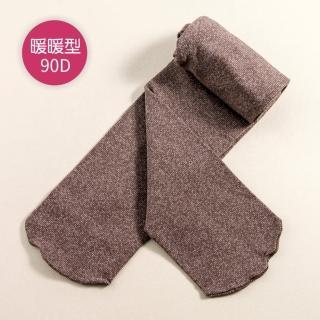 【公主童襪】90D秋冬咖啡色超細纖維花紗款兒童褲襪(0-12歲)- 3歲以下止滑