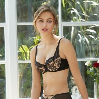【曼黛瑪璉】法式香吻無襯內衣 E-F罩杯(黑)