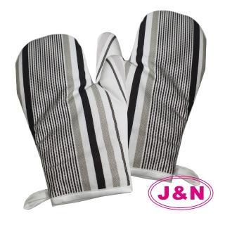 【J&N】條紋隔熱手套2入/1組