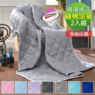 【Love City 寢城之戀】3M吸濕排汗處理 雪紡棉透氣鋪棉涼被2入(多色任選)