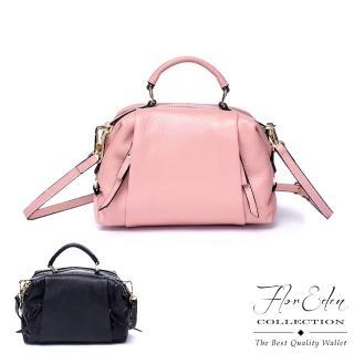 【D.F.Flor Eden】韓版氣質典雅女款真皮手提肩背包-共2色