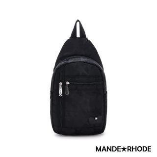 【MANDE RHODE 曼德羅德】卡莫雷茲-美系潮男風格兩用後背胸包-迷彩黑(P322)