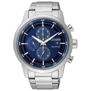 【CITIZEN 星辰】光動能 極速旋風限定款時尚計時男錶-藍/43mm(CA0610-52L)
