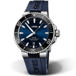 【ORIS 豪利時】Aquis時間之海300米潛水機械錶(0173377304135-0742465EB)
