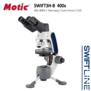 【Motic 麥克奧迪】Swift3H-B Hybrid 400x 雙眼LED蓄電生物實體兩用顯微鏡