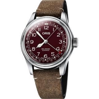 【ORIS 豪利時】Big Crown 紅色復興指針式日期機械錶-40mm(0175477414068-0752050)