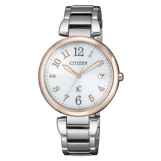 【CITIZEN 星辰】XC系列廣告款銀色時尚光動能女錶33mm(EO1195-51A)